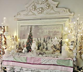 Christmas vintage mantel