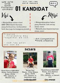 Pintar Saja Tidak Cukup untuk Menjadi Pemimpin: Profil Kandidat OSIS SMP – SMA Kasih Karunia Jakarta Tahun 2019 - 2020