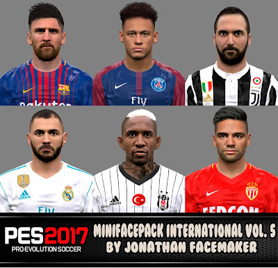 PES 2017 Mini Facepack International v5 by Jonathan Facemaker