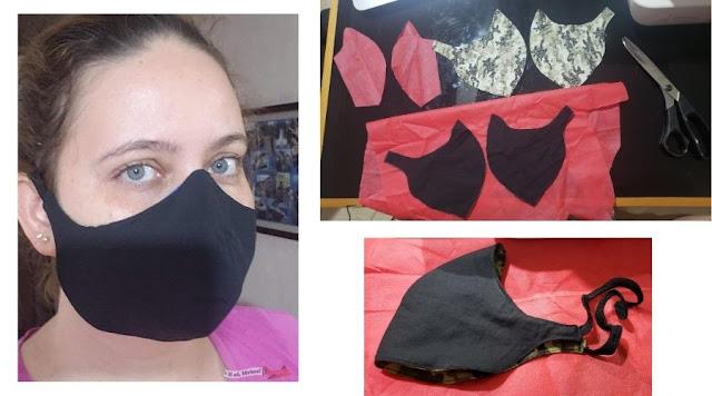 Como fazer  Máscara facial com um elástico
