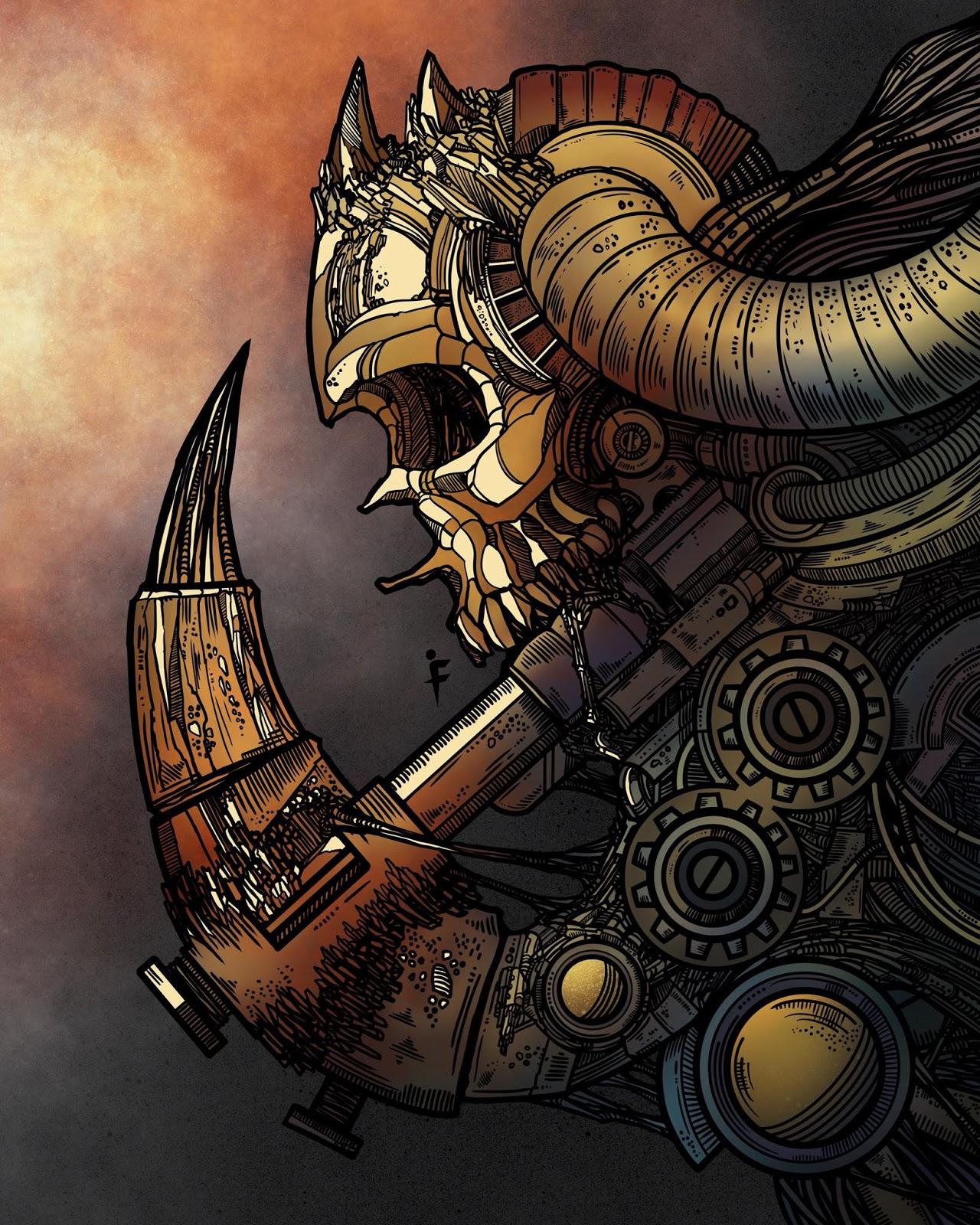 Death machine - Art by  Franjul Space - BlogFanArt