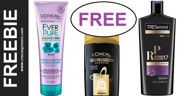 FREE Tresemme & L'Oreal CVS Deal 1-5-1-11