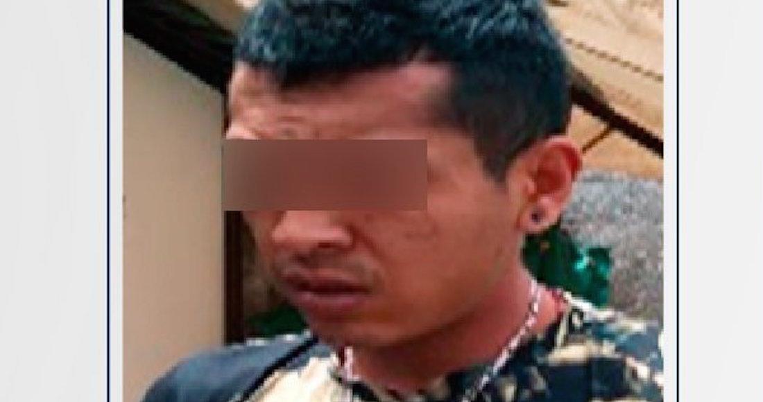 """Elementos de la SSPC detienen a Miguel Ángel alias """"El Michoacano"""", miembro de """"Guerreros Unidos"""", en Puebla"""