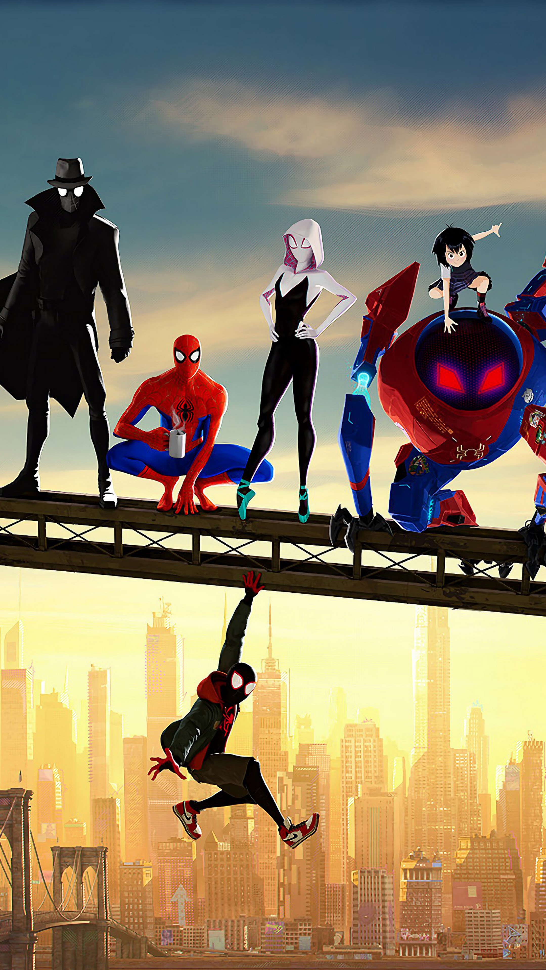 Spider Man Into The Spider Verse Characters 4k Wallpaper 6