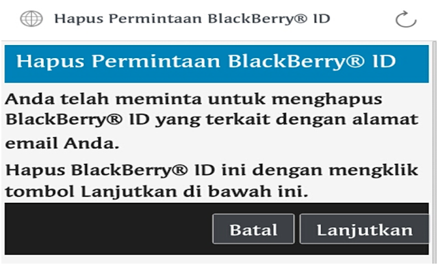 Hapus Akun Blackberry Id