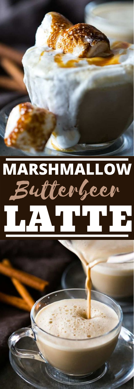 Best Marshmallow Butterbeer Latte #drinks #coffee #latte #hot #beverages