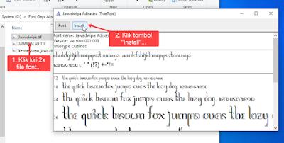 install font di windows