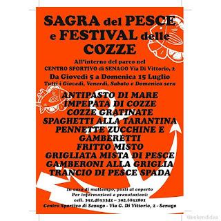 Sagra del Pesce e Festival delle Cozze dal 5 al 15 luglio Senago (MI)