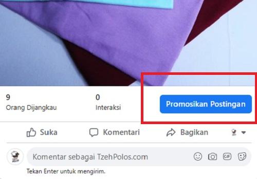 Promosikan Postingan di Facebook Ads