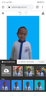 cara mengganti warna background foto melalui hp