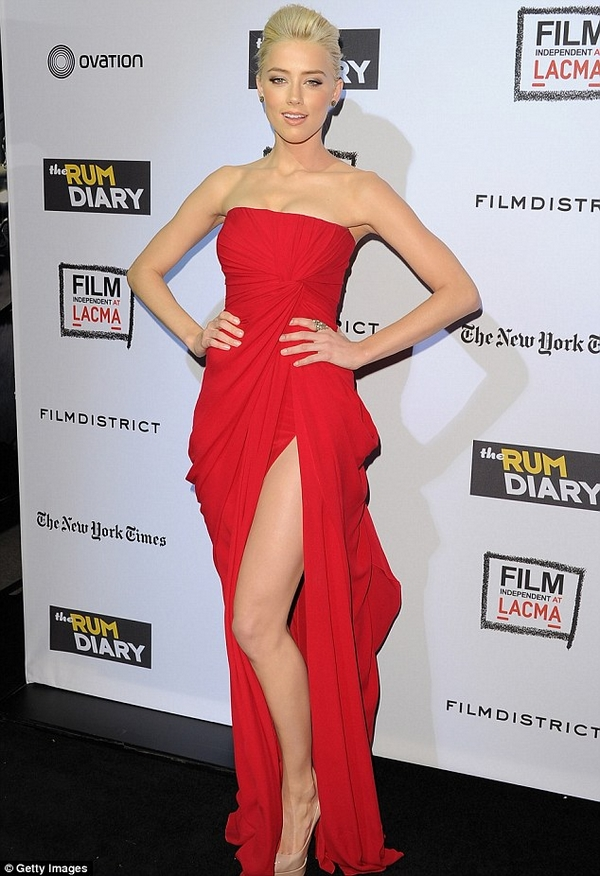 Amber Heard Rum Diary Premiere Elie Saab dress