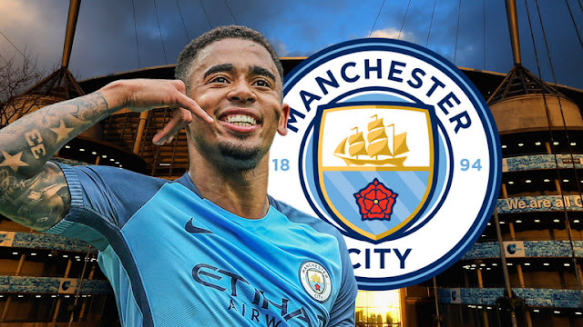 Gabriel Jesus in Machester City after departing Palmeiras. PHOTO | Skysports