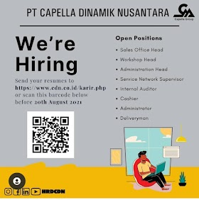 Lowongan Kerja D3/S1 Terbaru di PT Capella Dinamik Nusantara (CDN) Agustus 2021