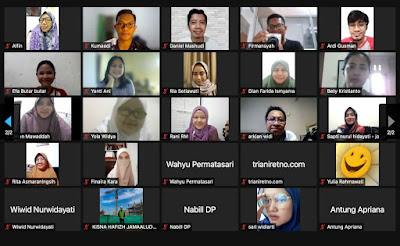 saya dan beberapa kawan blogger mengikuti webinar Mindtera