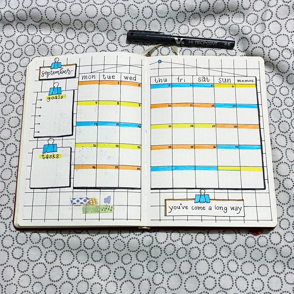 My September 2020 Journal Spread
