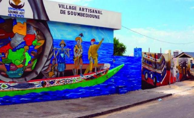 Le village artisanal de Soumbédioune à Dakar au Sénégal : Art, village, artisanat, culture, tourisme, soumbedioune, pêche, marché, LEUKSENEGAL, Dakar, Sénégal, Afrique
