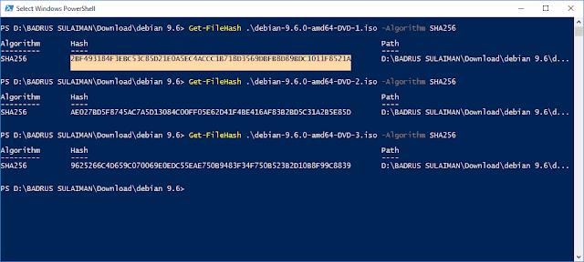 Get-FileHash PowerShell Windows 10