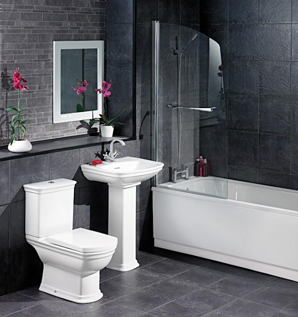 White And Black Bathroom Tile 2017 Grasscloth Wallpaper - Black-and-white-bathroom-york-by-novabell