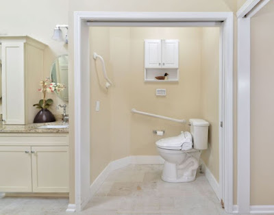 Universal Bathroom Design Example with Beige Color