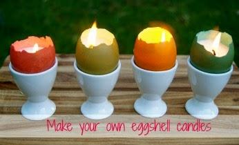 lilin kerajinan tangan dari kulit telur
