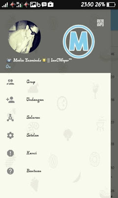 BBM Mod Blue Sky Theme V3.0.0.18 Apk For Android