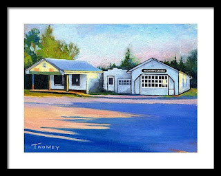 Landscape of old Virginia garage by C. Twomey