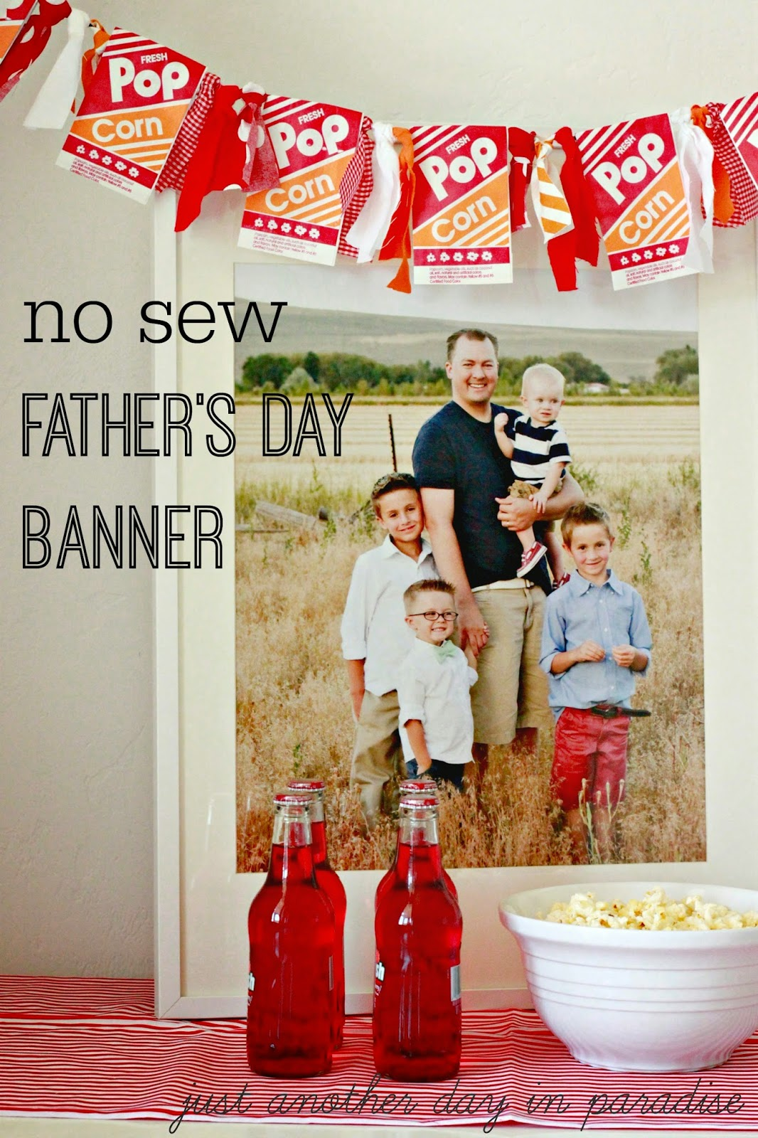 no sew fathers day banner