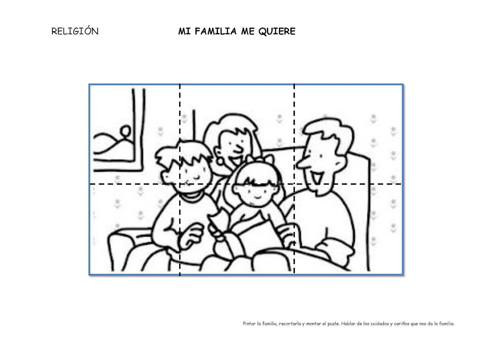 Familia Colorear Mi Anos 4 Para Ninos De 3