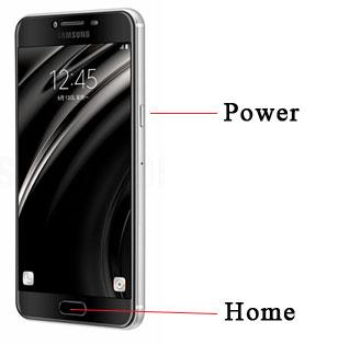 Screenshot Layar Samsung C5