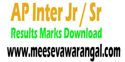 AP Inter Jr / Sr Results 2018 Final Year Exam Marks-Download