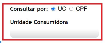 Página para Consultar Equatorial energia Alagoas 2 via com UC