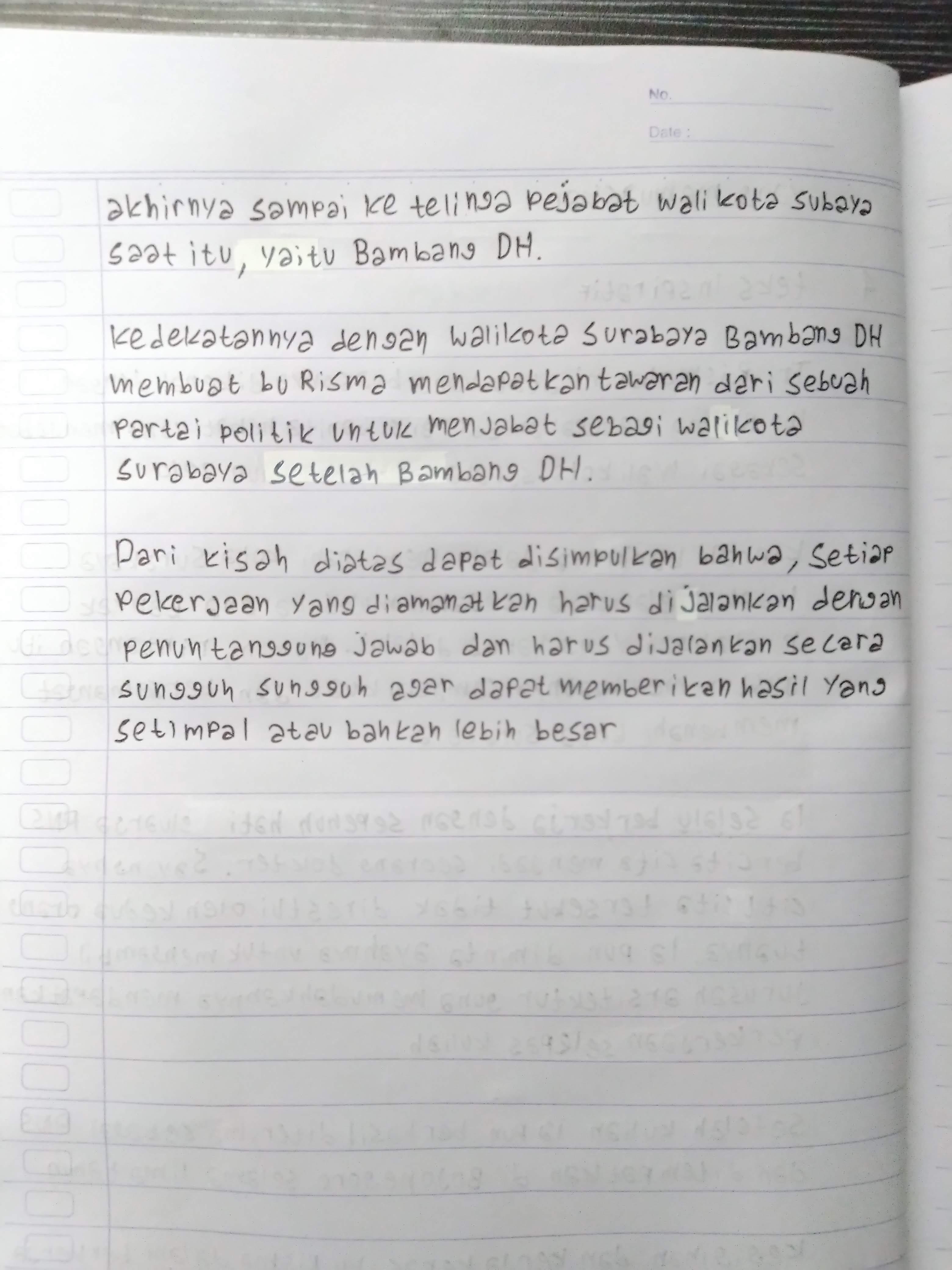 Contoh teks inspiratif dengan strukturnya