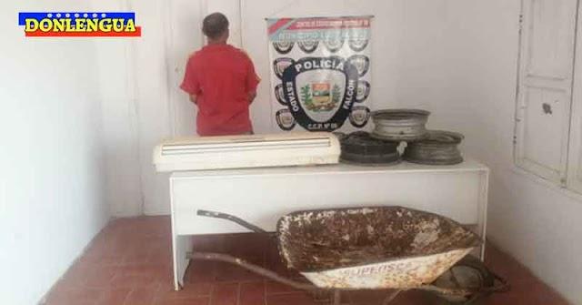 Peligroso delincuente detenido por intentar vender una carretilla oxidada robada
