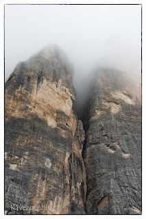 Dolomitok sziklafala Olaszországban