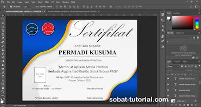 Cara Membuat Sertifikat Di Photoshop Free PSD