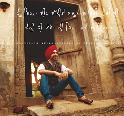Diljit Dosanjh New HD Wallpaper With Punjabi quote or ...