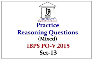IBPS PO Race 2015- Practice Reasoning Questions