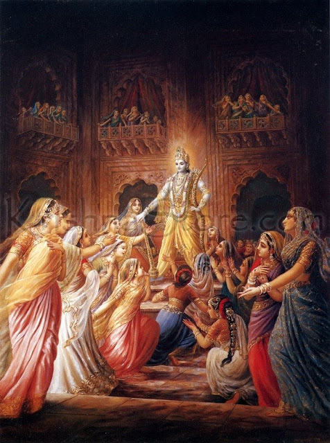 Krishna and his sixteen thousand wives