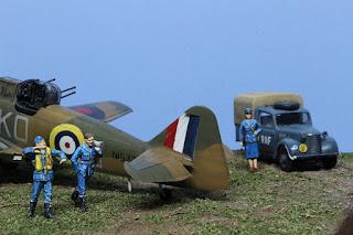 Diorama R.A.F. WWII 1/48.