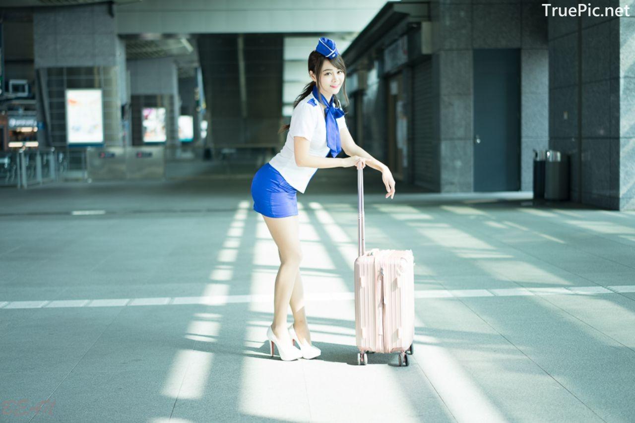 Image-Taiwan-Social-Celebrity-Sun-Hui-Tong-孫卉彤-Stewardess-High-speed-Railway-TruePic.net- Picture-7