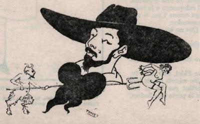 Caricatura de Víctor Ripalda (seudonimo de Joan Sanxo Farrerons)  publicada en la revista La Tuies