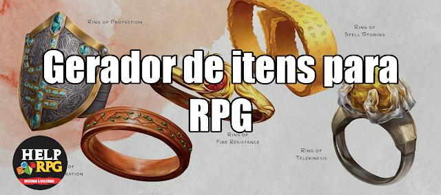 Gerador de itens para RPG