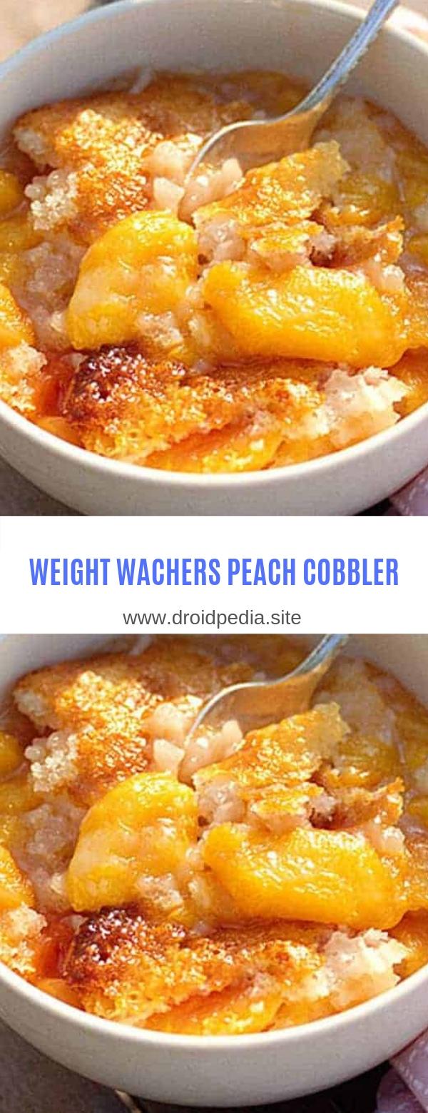 WEIGHT WATCHERS PEACH COBBLER