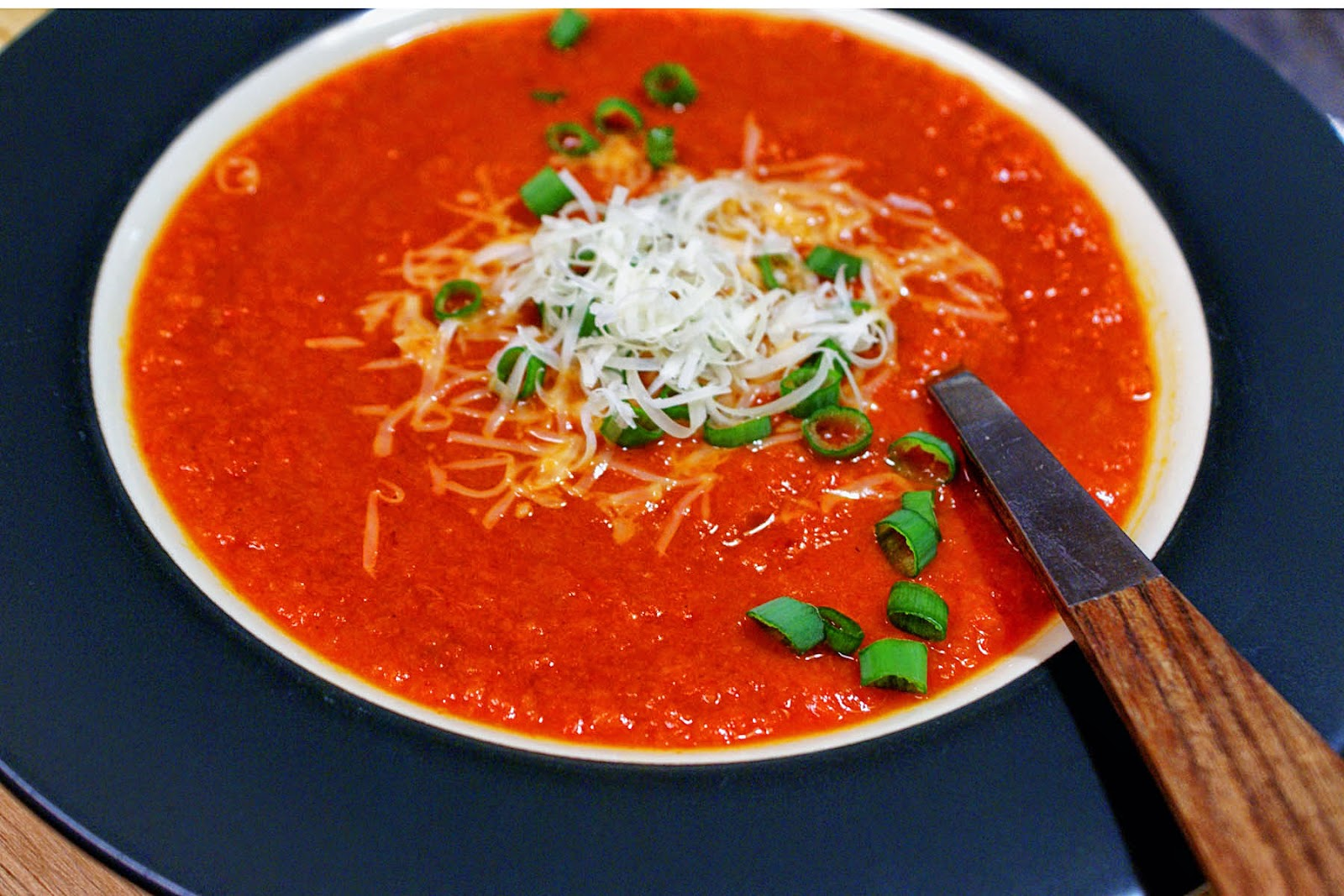 Spanish Spiced Red Pepper Bisque