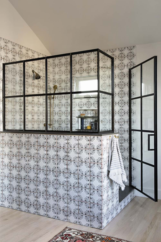 płytki do łazienki w stylu rustykalnym