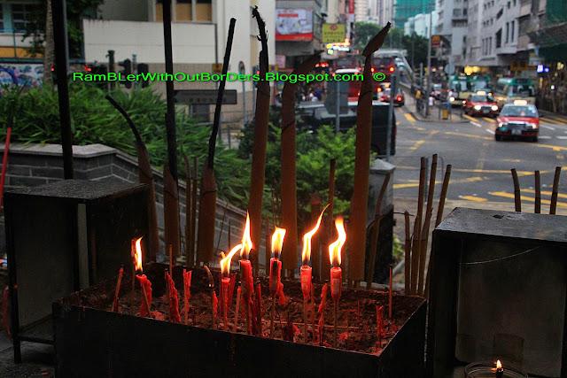 Incense and candles, Tin Hau Temple, Aberdeen, Hong Kong