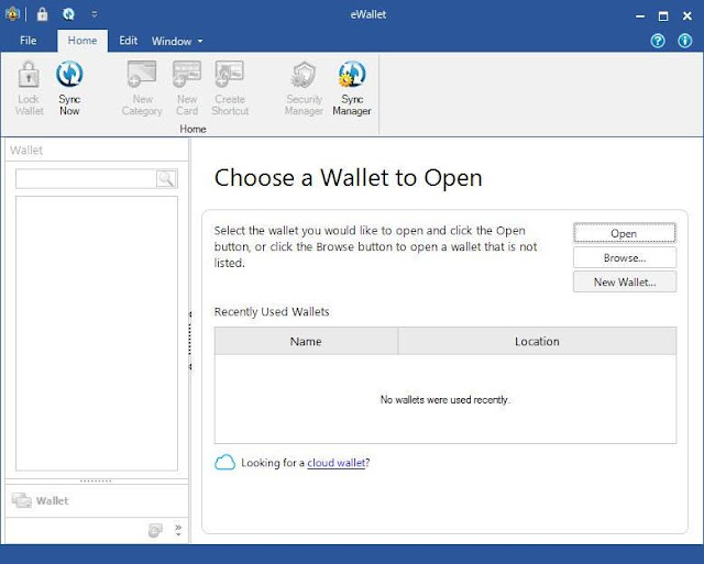 Screenshot eWallet 8.5.2.35901 Full Version