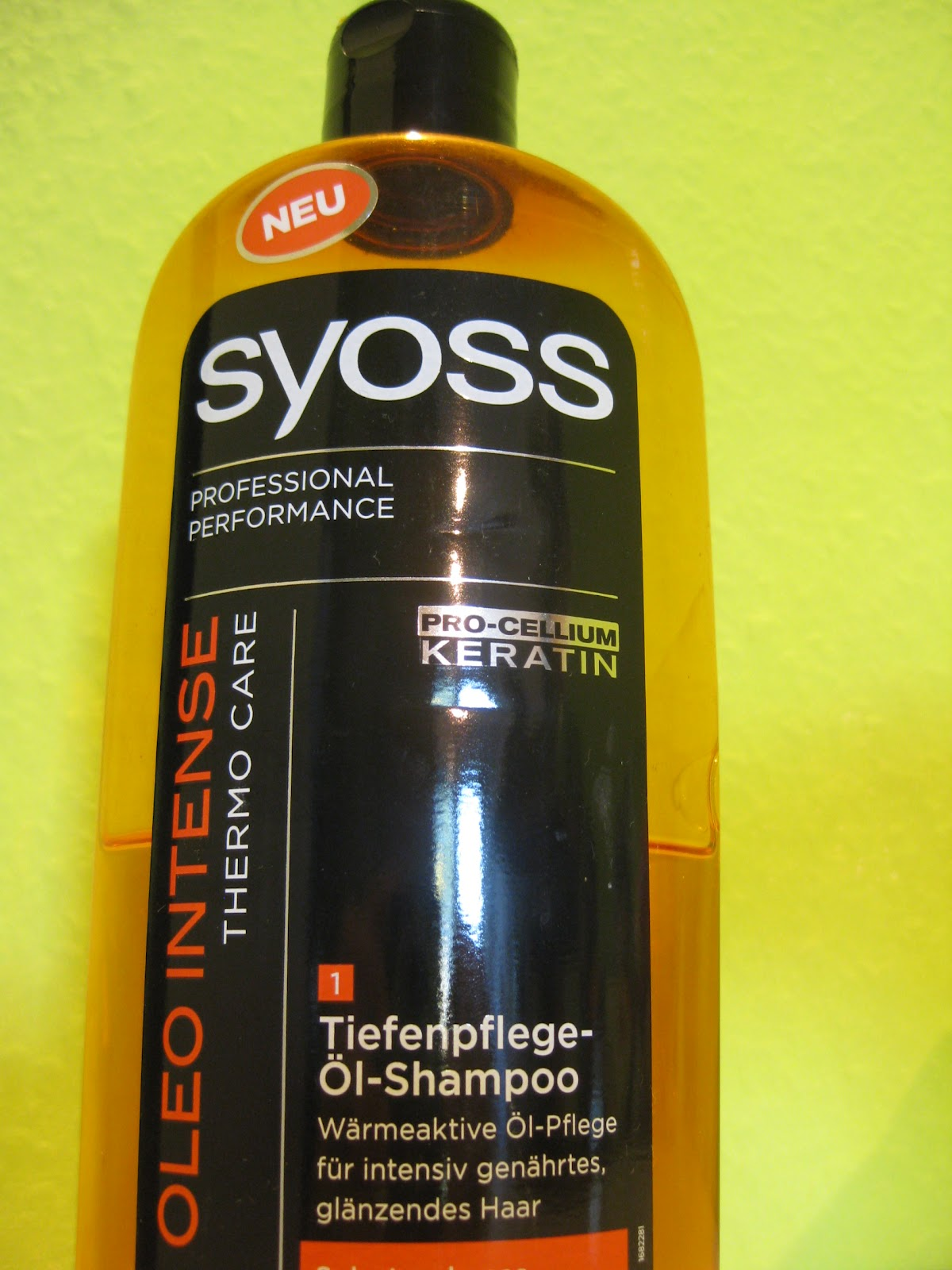 rachelles wonderworld syoss oleo intense thermo care shampoo test. Black Bedroom Furniture Sets. Home Design Ideas