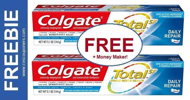 FREE Colgate Total Toothpaste at CVS 12/20-12/26