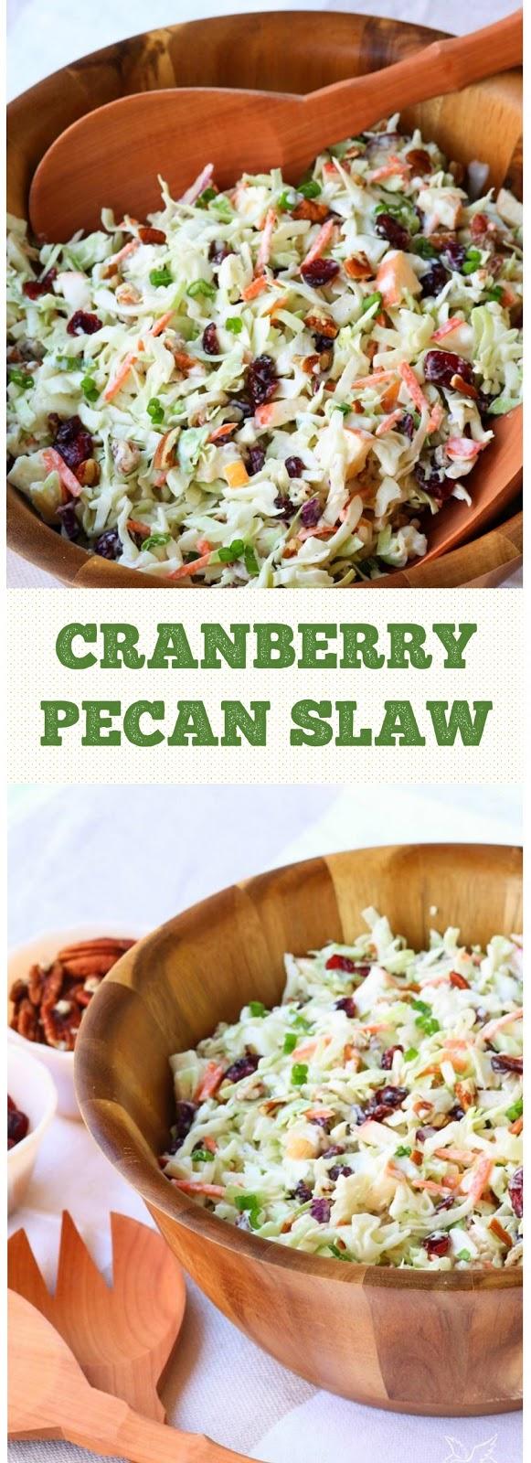 Cranberry Pecan Slaw